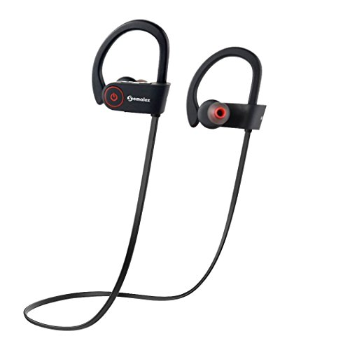 bluetooth sport headphones with mic wireless noise cancelling technology sweatproof stays on. Black Bedroom Furniture Sets. Home Design Ideas
