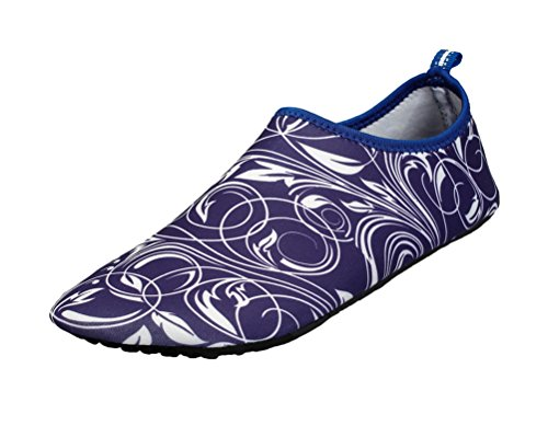 T&Mates Unisex Fitted Athletic Sport Soft-Soled Skin Surf Pool Beach Socks Water Skin Shoes (Purple, - Stores Rock Round At Outlets