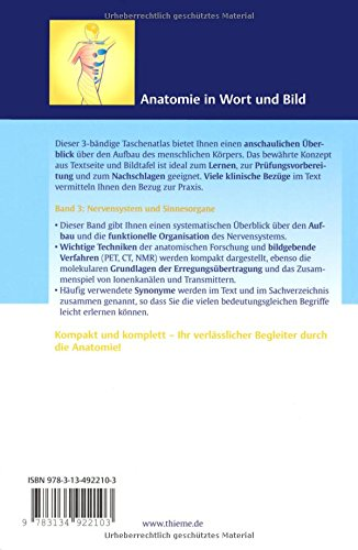 Taschenatlas Anatomie. in 3 Bänden/Taschenatlas Anatomie, Band 3 ...