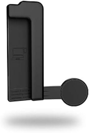 smallJUN Soporte de Pantalla múltiple Soporte para teléfono de Montaje Lateral para computadora portátil Clip para Pantalla de Monitor Doble Negro