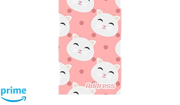 photo relating to Cute Printable Address Book identified as Protect.: Protect Reserve. (Vol. B67) Lovely Cat Style and design. Shiny