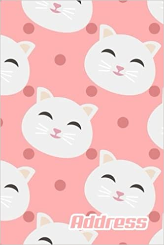 picture relating to Cute Printable Address Book identify Protect.: Protect E-book. (Vol. B67) Adorable Cat Style and design. Shiny