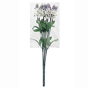 BleuMoo Fabric Artificial Lavender Flowers Bouquet For Wedding Home Party 58