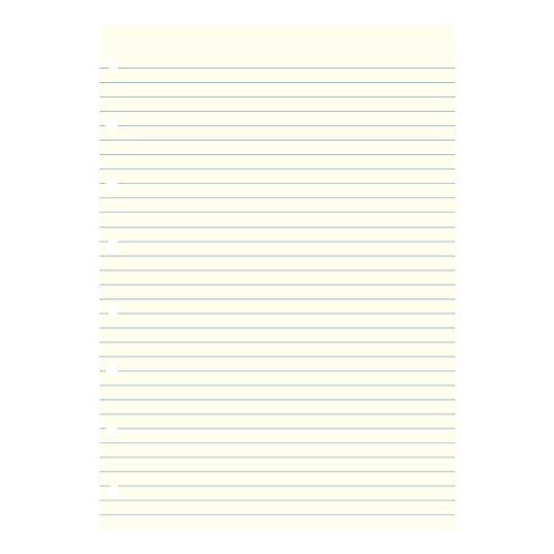 Filofax Notebook Refill, Ruled, 8 1/4 x 5 13/16, Cream, 32 Sheets/Pack