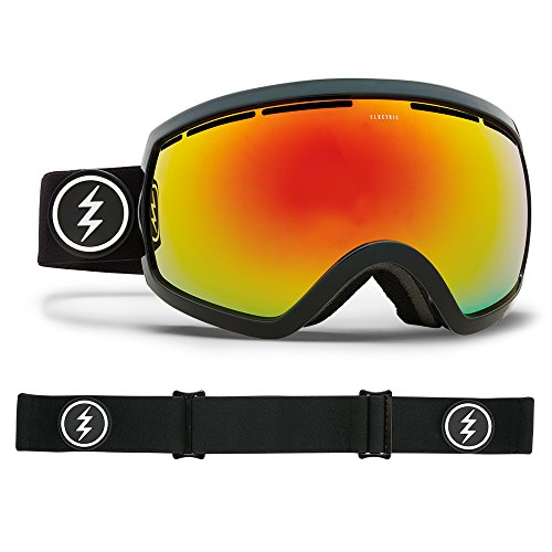 Electric Visual EG2.5 Gloss Black/Brose Red Chrome Snow Goggle by Electric