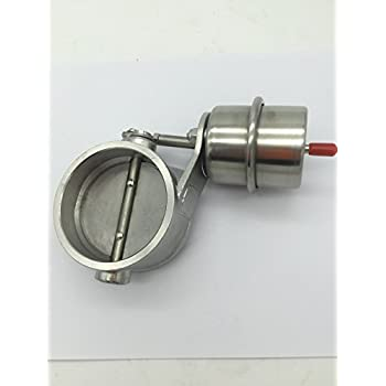 Weldable Stainless Steel Exhaust Control Valve Set Vacuum Actuator 2 1/2
