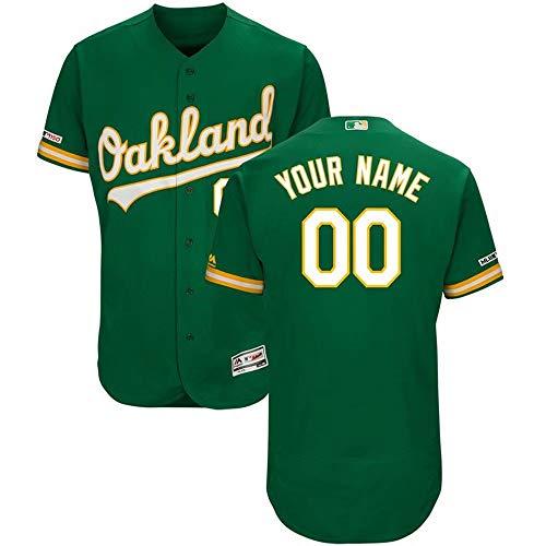 VF Personalized Custom Baseball Uniform Oakland Athletics Baseball Jersey Comfortable Breathable V-Neck Short Sleeve Jacket Shirt Top Best Gift for Birthday Festival Anniversary