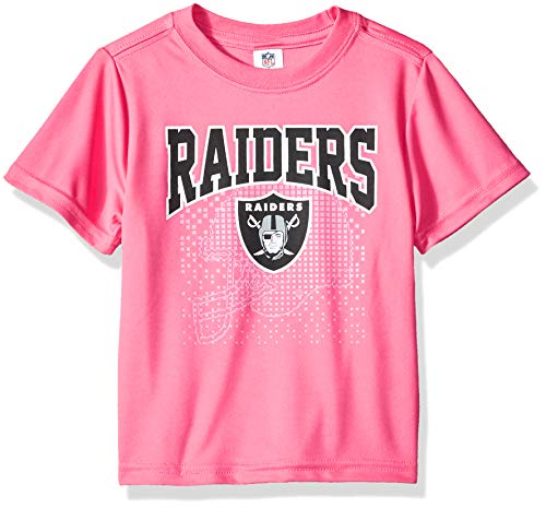 NFL Oakland Raiders Baby-Girls Short-Sleeve Tee, Pink, 12 Months
