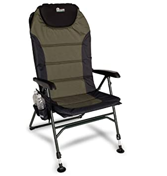 EARTH ULTIMATE 4 POSITION OUTDOOR CHAIR W NEW ADJUSTABLE FRONT LEGS AND COMFORTABLE BUILT