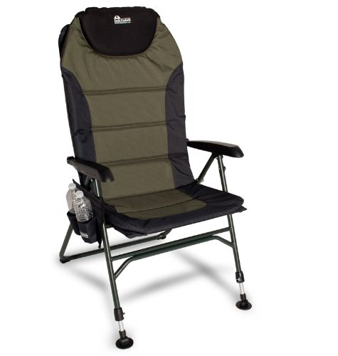 Earth Ultimate 4-Position Outdoor Chair w. New Adjustable Front Legs and Comfortable Built-in Pillow for Head Support (Best Beach Chairs For Bad Backs)