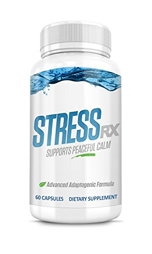 StressRX All Natural Herbal Stress Management Supplement with Ashwagandha, Rhodiola, and Cordyceps, 60 Capsules