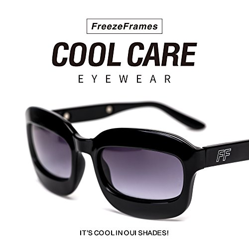 FreezeFrames Sunglasses for migraines With 4 Reusable GelPads For Cold Or Warm Therapeutic Treatment – On The Go Relief For Puffy, Baggy Tired & Sore Eyes – Alleviate Headaches & - Sunglasses Migraines For