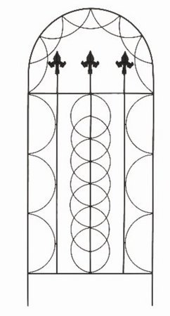 fleur de lys garden trellis amazon co uk garden outdoors