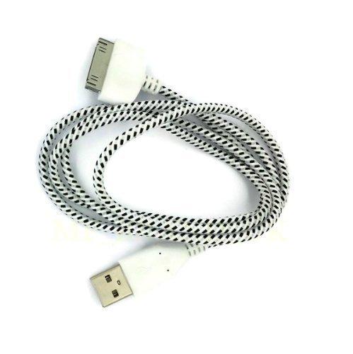 Cable Cargador Datos Sinc Fuerte Trenzado Para iPhone 4 4G 4S 4GS / iPad 1 2 3 / iPad1 / iPad2 / iPad3 / ipod Touch 1 2 3 4 / Touch4 / iPhone 2 2G