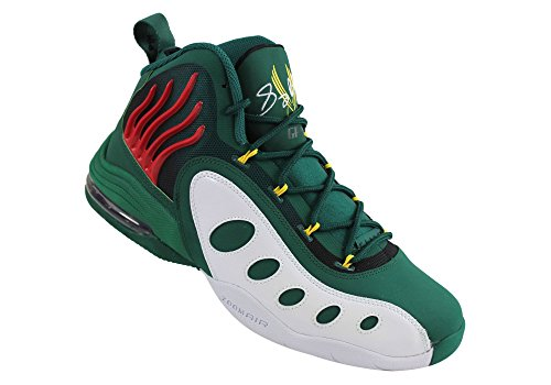 Men's Nike White Basketball Sonic Yellow Red Shoes Flight Pine Green gTwETqxr
