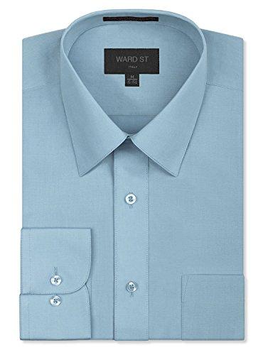 - Ward St Men's Regular Fit Dress Shirts, 3XL, 19-19.5N 34/35S, Light Blue