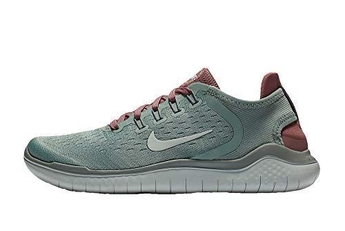 Shoes Authentic Wholesale - Nike Women's Free RN 2018 Running Shoe (9 B(M) US, Mica Green/Light Silver-Smokey Mauve)