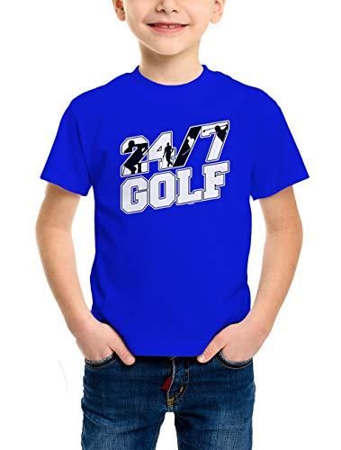 HAASE UNLIMITED 24/7 Golf Youth T-Shirt (Royal Blue, Medium)