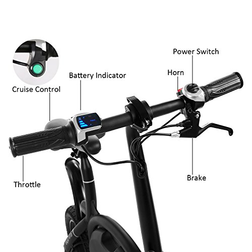 Ancheer Folding Electric Bicycle E Bike Scooter 350w Ebike With 12 Mile Range App