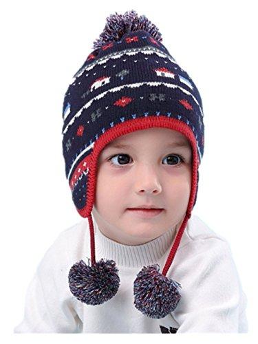 LLmoway Baby Kids Earflap Beanie Hats Soft Cotton Knit for sale  Delivered anywhere in USA
