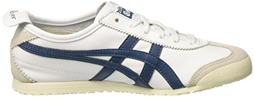 0145 Baskets Blue Asics Mixte 66 Multicolore Adulte Ink Basses White Mexico qnv7B14