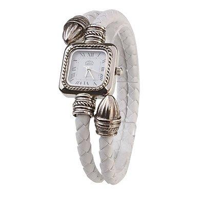 Bella relojes, PU Cuerda Banda Cuarzo reloj de pulsera de mujer (Blanca), Bianco: Amazon.es: Deportes y aire libre