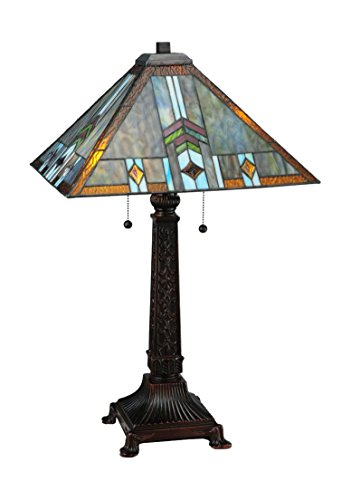 (Meyda Tiffany 138772 Prairie Wheat Sun Shower Table Lamp, 26