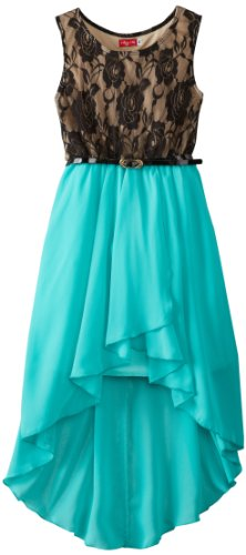 86adc2291 Amazon.com  Ruby Rox Big Girls  Belted High Low Dress