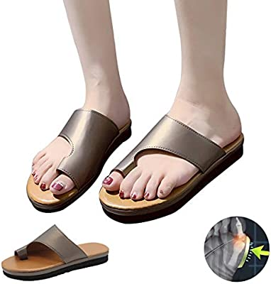 Amazon Com Lwwozl Womens Sandals For Bunions Corrector Summer Open Toe Fashion Beach Travel Comfy Flip Flops Platform Breathable Casual Bunion Corrector Sandalsf 41 Home Kitchen