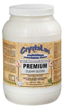 Waterborne Lacq Finish, Clear, Gloss, 1 gal (Finishes Crystalac)