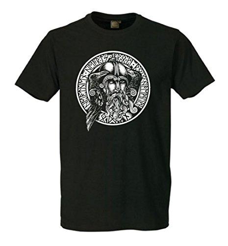 Odin Raben T-Shirt Schwarz