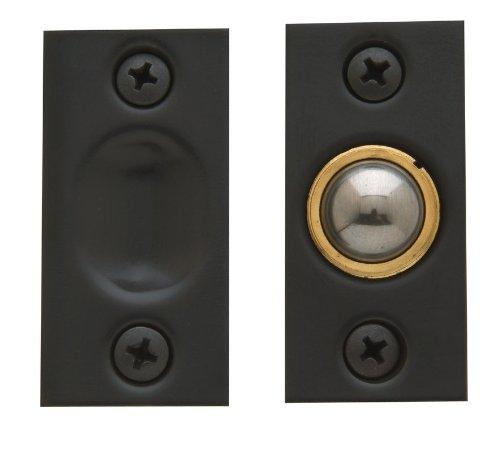 Baldwin 0425 Solid Brass Adjustable Ball Catch with 1 Inch x 2-1/8 Inch Strike, Polished Chrome