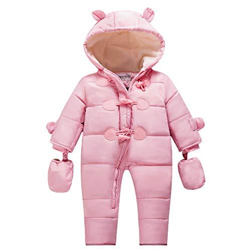 TeenMiro Baby Winter Clothes Newborn Fleece Bunting Infant Snowsuit Girl Boy Snow Wear Outwear Coats 0-24 Months -