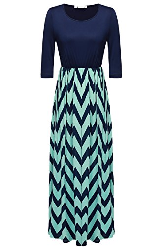 ANGVNS Womens Fashion Contrast Striped