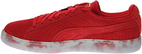 Sneaker Puma Suede Classic V2 Perf Per Donna Ad Alto Rischio Rosso / Bianco Puma