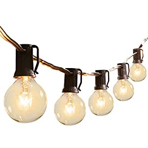 100Ft G40 Globe String Lights with Bulbs-UL Listd for Indoor/Outdoor Patio Bistro Pergola Deckyard Tents Commercial…