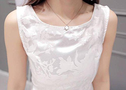 Di Estate Fit Del Da donne Vestito Solido Sottile Coolred Partito Colore Quotidiano Bianche Organza wq7YHX6x