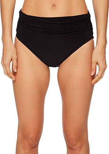 Shirred Tankini Tops Bottom (Magicsuit Women's Magic Solids Shirred High Waist Bikini Bottom Black 12)