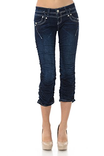 (VIRGIN ONLY Women's Slim Fit Skinny Denim Capri Jeans (Midnight Blue,)