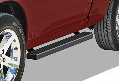 Lund Dodge Ram 3500 Pickup - APS iBoard (Black Powder Coated 4 inches) Running Boards | Nerf Bars | Side Steps | Step Rails for 2009-2018 Ram 1500 Regular Cab Pickup 2Dr & 2010-2019 Ram 2500/3500