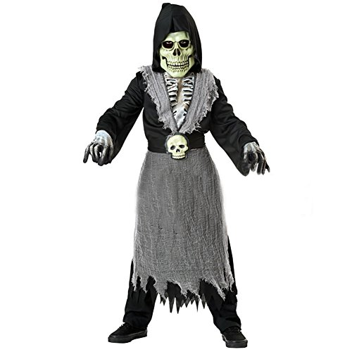 [Extpro Halloween Scary Zombie Costume with Skull Mask Skeleton Zombie Outfit Decorations for Kids Toddlers] (Kid Zombie Costumes Ideas)