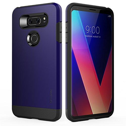 SPARIN LG V30/LG V30 Plus Case/LG V30S Case, Dual Layer Black Tough Phone Case for LG V30 with Shock Absorbing/Scratch Proof/Precise Designed, 6 Inch, Blue