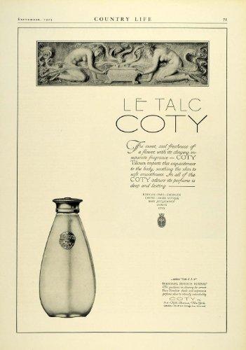 1925 Ad Coty Talc Talcum Bath Powder Bottle Toiletries Skin Care Hygiene Beauty - Original Print Ad