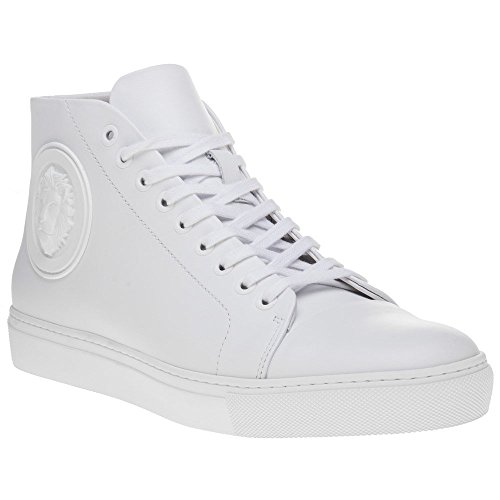 White Homme Mode Versus Baskets Blanc Top Logo High qH1wPapz