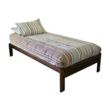 santa cruz twin xl extra long bed rustic walnut