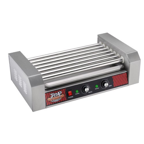 Great Northern Commercial Quality 18 Hot Dog and 7 Roller Grilling Machine, 1400-Watt (Popcorn Skillet compare prices)