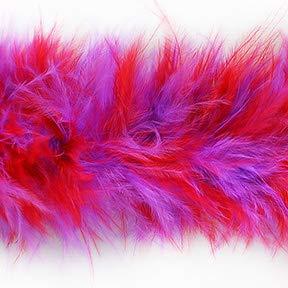 (Marabou Feather Boa Trim Red/Purple)