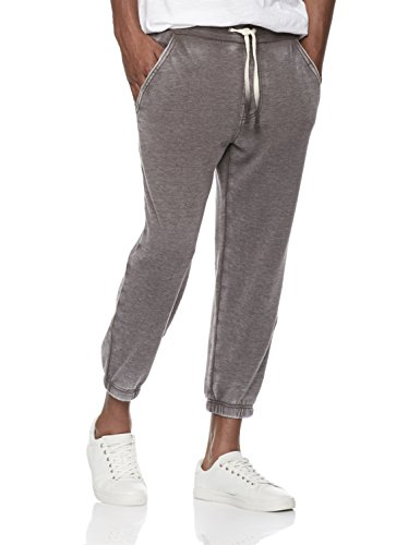 Rebel Canyon Young Men's Super Soft Fleece Cropped Jogger Sweatpant with Vintage Wash Medium Medium Grey (Cropped Fleece Pant)