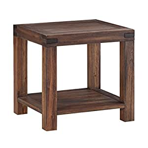Modus Furniture 3F4122 Meadow End Table, Brick Brown