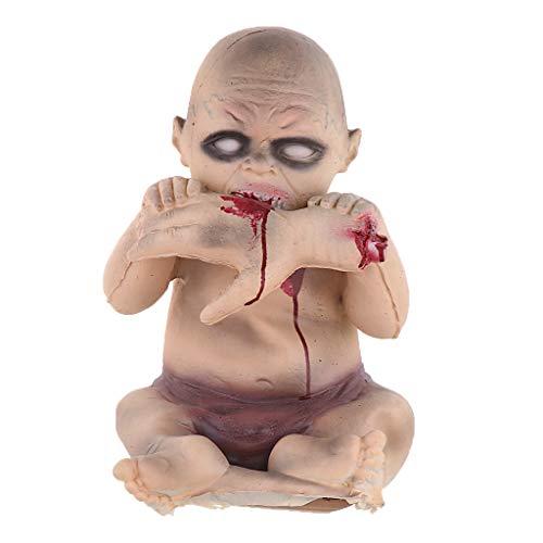 (Fenteer Halloween Decorations Demon Zombie Baby Doll Halloween Toy Halloween Party Accessory)